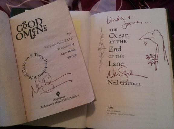 Neil Gaiman signed books